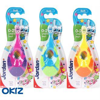 韩国进口正品婴幼儿牙刷1段0-2岁 乳牙刷/训练牙刷/护齿牙刷
